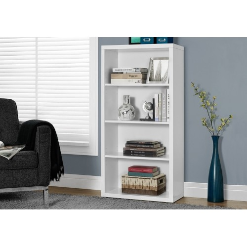 "I-7059 Bookcase - 48 ""H / white with adjustable shelves"