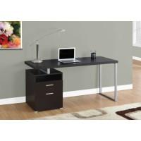 """I-7143 Computer Desk - 60""""L (cappuccino/silver metal)"""