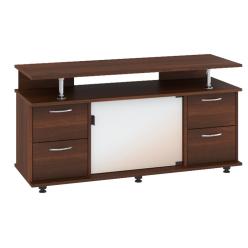 "TV Stand MONTANA 47""L with 4 storage drawers (Dark brown)"