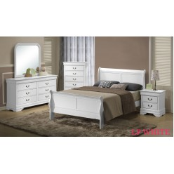 "Louis Phillipe Bedroom Set 60"" 4pcs (White)"