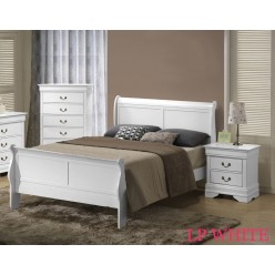 "Louis Phillipe Bedroom Set 60"" 3pcs (White)"