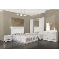 """Extaza Bedroom Set 60"""" 4pcs (white)"""