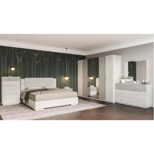"Vivian Bedroom Set  60"" 6pcs (Alyaska/monolith)"