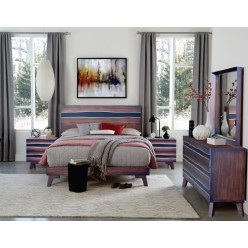 "Greentown Bedroom Set 60"" 3pcs (Brown)"