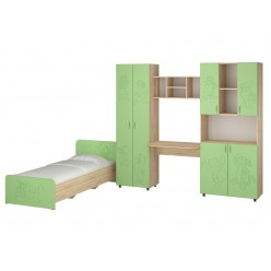 Jerry Children's bedroom set (sonoma+pistachio)