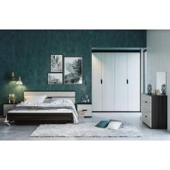 "Maria Bedroom Set  60"" 4pcs (Boras oak/white gold)"