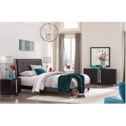 "Venezia Bedroom Set 60"" 3pcs (Black)"