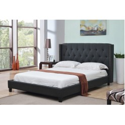 "IF-5800 Bed 78"" (Charcoal Fabric)"