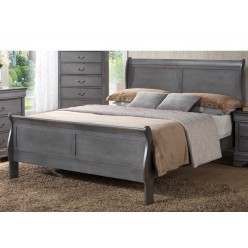 "Louis Phillipe Bed 78"" (Grey)"