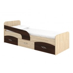 """Bed 39"""" Milka (sonoma +  dark brown)"""