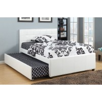 "IF-124 Bed 54"" with trundle (White)"