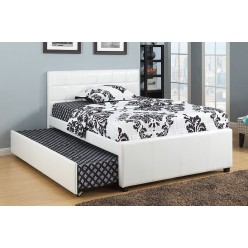 "IF-124 Bed 39"" with trundle (white)"