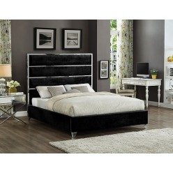"""IF-5881 Bed 78"""" (Black)"""