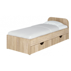 """Bed 39"""" Sonia  without drawers (sonoma)"""