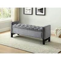 IF-6400 Storage bench (grey velvet)