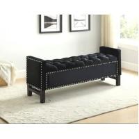IF-6401 Storage bench (black velvet)