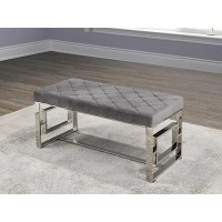 IF-6610 Chrome bench (grey velvet)