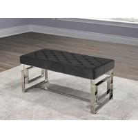 IF-6611 Chrome bench (black velvet)