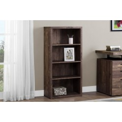 """I-7404 Bookcase 48 """"H with adjustable shelves (brown)"""