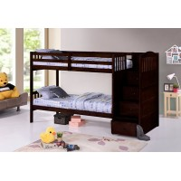 B-5910 Twin/Twin Bunk Bed (Espressso)