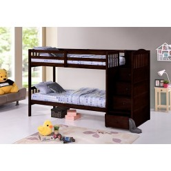 B-5910 Twin/Twin Bunk Bed (Espressso)