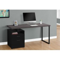 """I-7436 Computer Desk - 60""""L (black+grey/metal black)"""