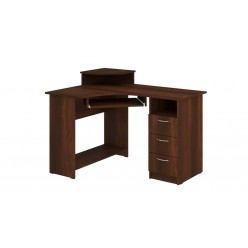 Computer Desk Compact (dark brown)