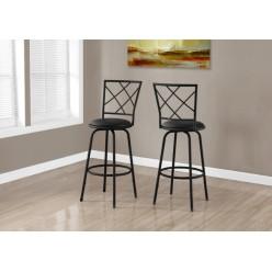 I-2375 Bar stool 2pcs (Black)