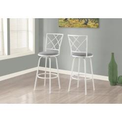 I-2377 Bar stool 2pcs (White)