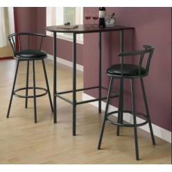 I-2398 Bar stool 2pcs (Black)