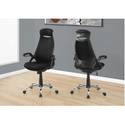 I-7268 Office Chair with  high back (Black mesh/ Chrome)