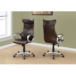 I-7289 Office chair Brown leather-look / High back executive