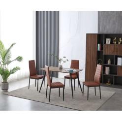 Chair S-258BR 4pcs (brown)