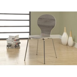 """Chair I-1051 34""""H (taupe bentwood/metal chrome)"""
