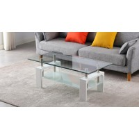 Coffee table S-422 (glass/chrome legs)