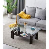 Coffee table S-424  (glass/chrome legs)