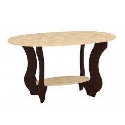 Coffee table Tulip (black/brown +sonoma)