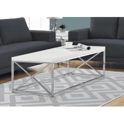 Coffee Table I-3028 (white/chrome metal)
