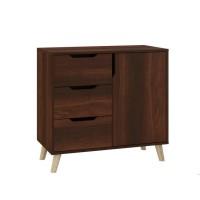 Dresser Retro K-3+1 with 3 drawers and 1 locker (dark brown)
