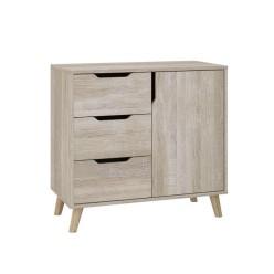 Dresser Retro K-3+1 with 3 drawers and 1 locker (truffle)