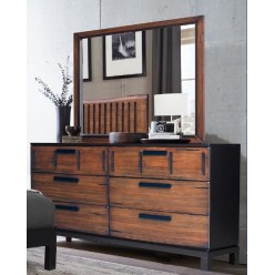 Camellia Dresser and mirror (brown)