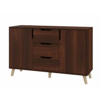 Dresser Retro K-3+2 with 3 drawers and 2 lockers (brown)