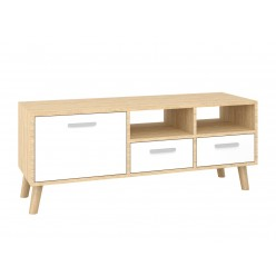 """TV Stand MIRAGE 47""""L with 3 storage drawers (sonoma + white)"""