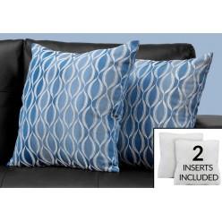 I-9349 set of 2 cushions (blue)