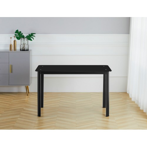 Table S-128BK  (black/glass)