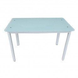 Table S-128W (white/glass)