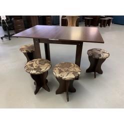 Kitchen Set Folding table+stools 5 pcs