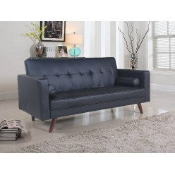 If-8052 Sofa-bed (black, leatherette)