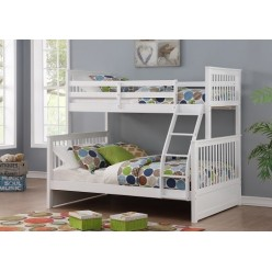 B-122 Bunk Bed (White)