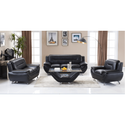 Model Felix 3pcs Sofa Set (Black)